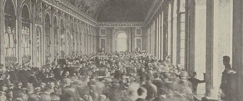 Unterzeichnung des Friedensvertrags von Versailles