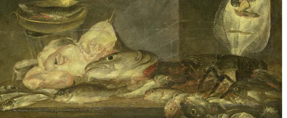 Stillleben mit Fisch, Adriaensen