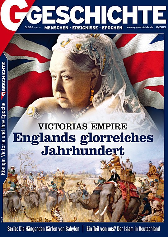 Queen Victoria vor Union Jack