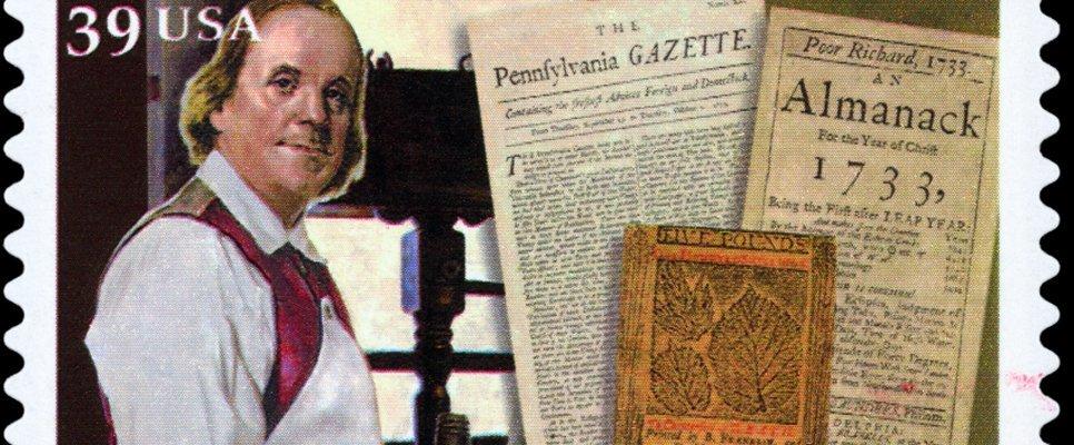 Benjamin Franklin Briefmarkenentwurf