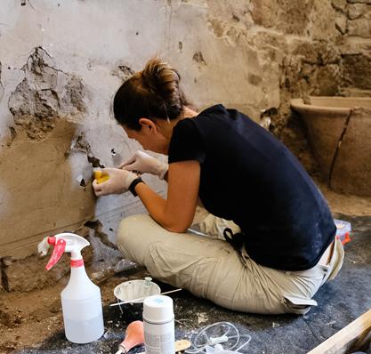 Antike Wanddekoration entdeckt