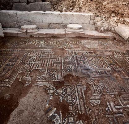 Wertvolles Mosaik freigelegt