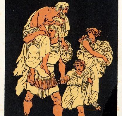Aeneas' Flucht aus Troja