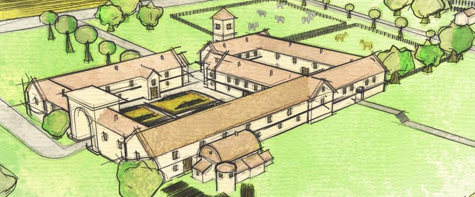 römische Villa in Wiltshire