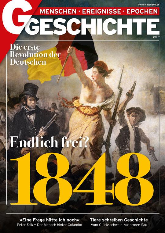 Cover: Marianne mit schwar-rot-goldener Flagge