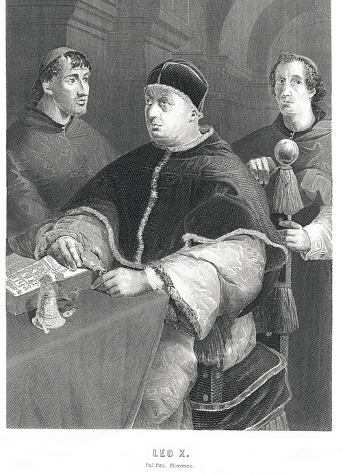 19th-century illustration of Pope Leo X.