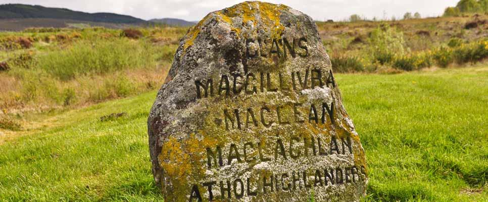 Gedenkstein in Culloden