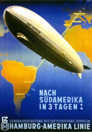 Zeppelin-Werbeplakat