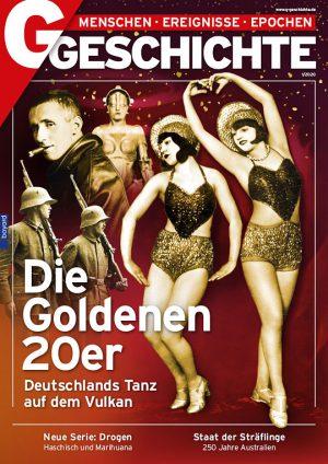 """Unser Titelbild zeigt Soldaten beim Kapp-Putsch, Bertolt Brecht, die Maschinenfrau aus dem Film """"Metropolis"""" und zwei Revue- Tänzerinnen"""