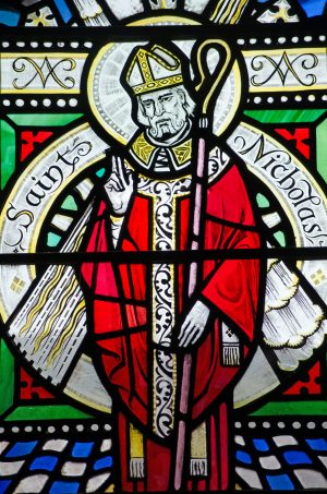Saint Nicholas Buntglasfenster