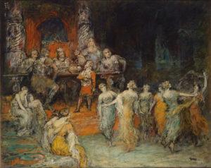 Gemälde, Öl auf Leinwand, 1923
