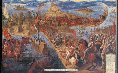 Spanier schlagen Azteken